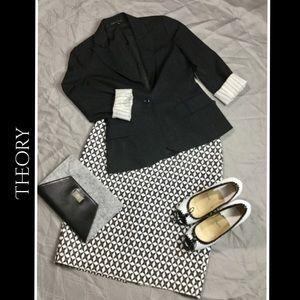 Theory black button blazer Sz 0